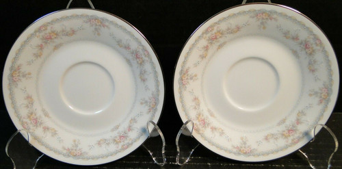 "Noritake Veranda Saucers 6"" 3015 Set of 2 