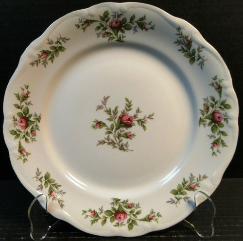 "Johann Haviland Traditions Moss Rose Dinner Plate 10"" Red Green Leaves Excellent"