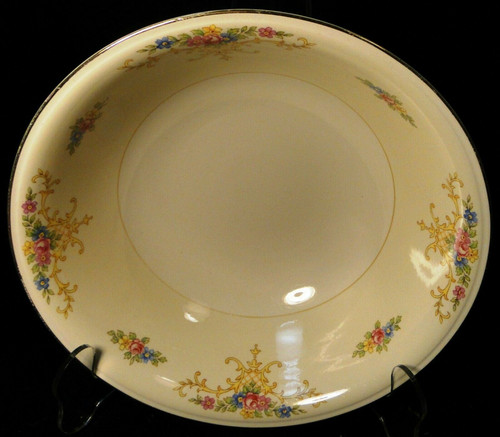 """Homer Laughlin Rochelle Vegetable Serving Bowl 8 1/2"""" Eggshell 