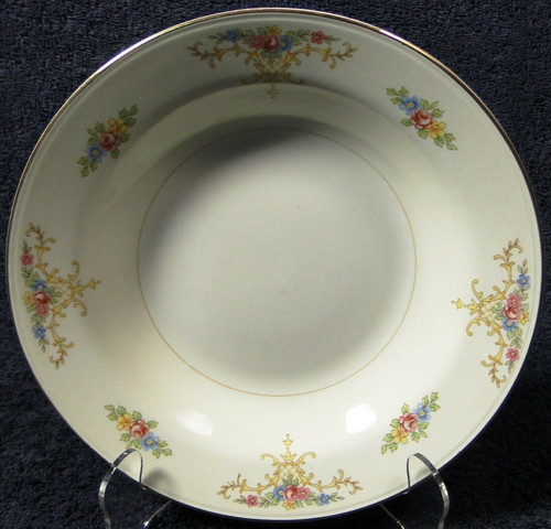 """Homer Laughlin Eggshell Nautilus Rochelle Soup Bowl 8 1/4"""" 