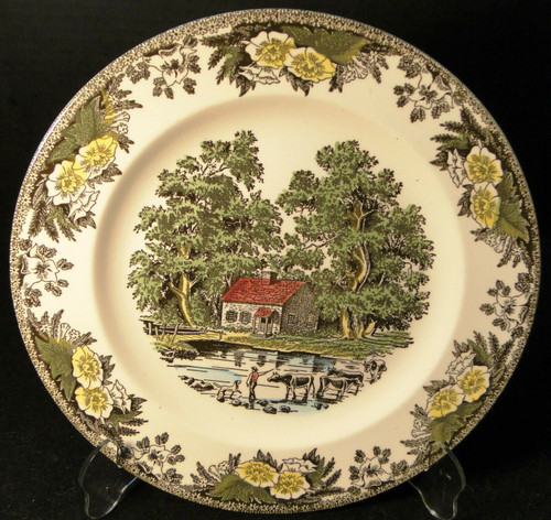 "Royal China Fair Oaks Dinner Plate 10 1/8"" Yellow Floral 