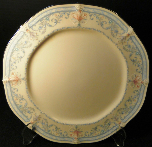 "Noritake Crown Flower Dinner Plate 7324 10 1/2"" Ivory China Excellent"