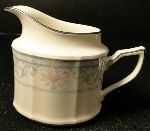 Noritake Crown Flower Creamer 7324 Ivory China | DR Vintage Dinnerware and Replacements