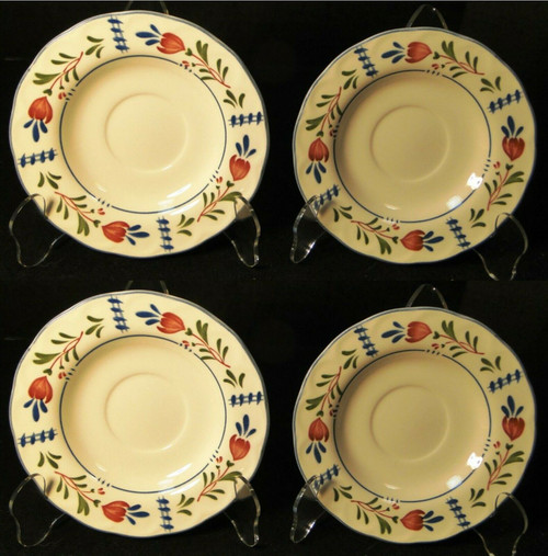 Nikko Avondale Saucers Provisional Designs Japan Set of 4 | DR Vintage Dinnerware and Replacements