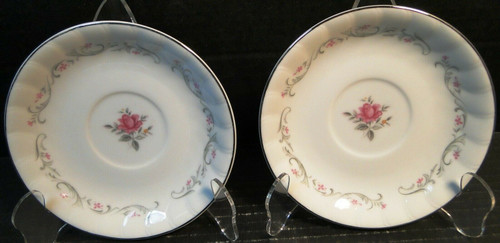 Fine China of Japan Royal Swirl Saucers Set of 2 Excellent