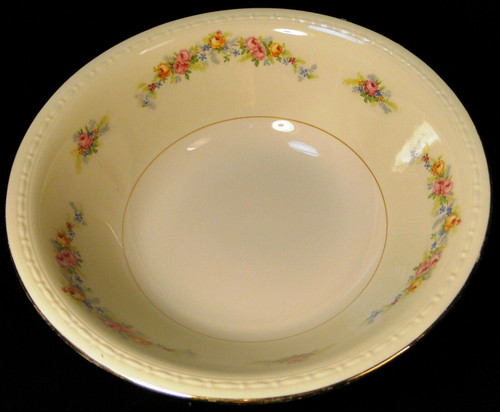 """Homer Laughlin Georgian G3523 Serving Bowl 8 5/8"""" Pink Roses 