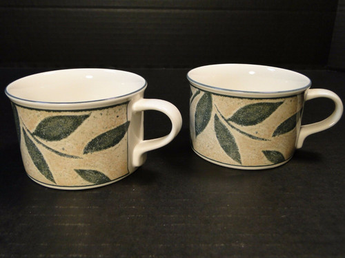 Mikasa Intaglio Natures Song Cups Mugs CAA06 Set of 2 Excellent