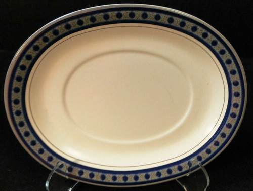 Mikasa Aztec Blue Gravy UnderPlate Relish Tray CB009 Potters Touch Excellent
