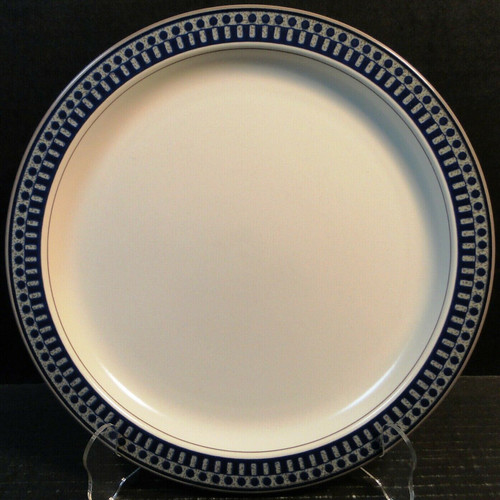 "Mikasa Aztec Blue Dinner Plate 11 1/8"" CB009 Potters Touch Excellent"