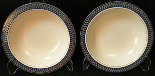 "Mikasa Aztec Blue Soup Bowls 8 1/4"" CB009 Salad Pasta Set of 2 