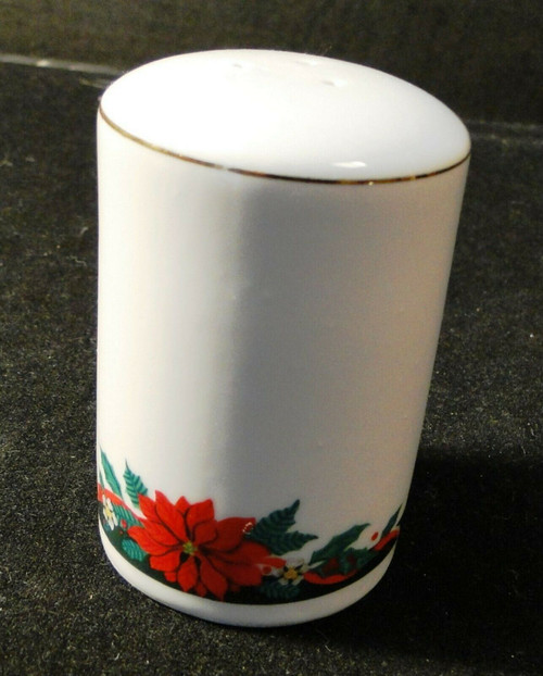 Tienshan Deck the Halls Salt Shaker 3 Holes Christmas Poinsettia | DR Vintage Dinnerware and Replacements