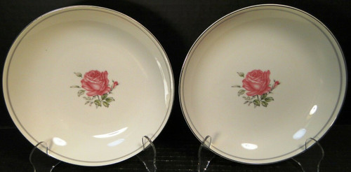 Fine China of Japan Imperial Rose Soup Bowls Salad Pasta Set of 2 | DR Vintage Dinnerware Replacements