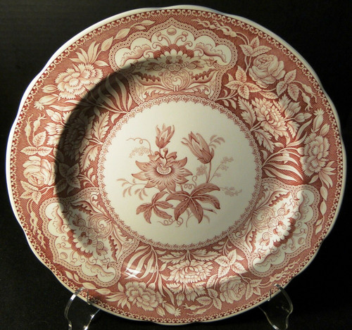 Spode Archive Collection Floral Dinner Plate 10 3/8 Georgian Cranberry Excellent