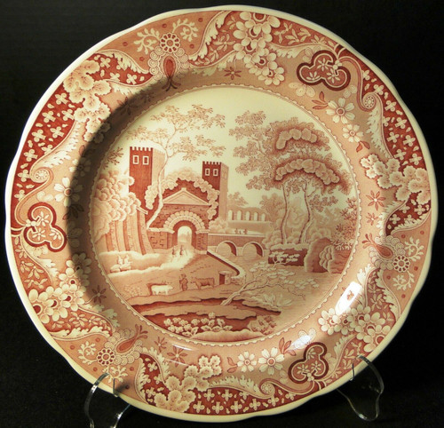 Spode Archive Collection Castle Dinner Plate 10 3/8 Traditions Cranberry   DR Vintage Dinnerware and Replacements