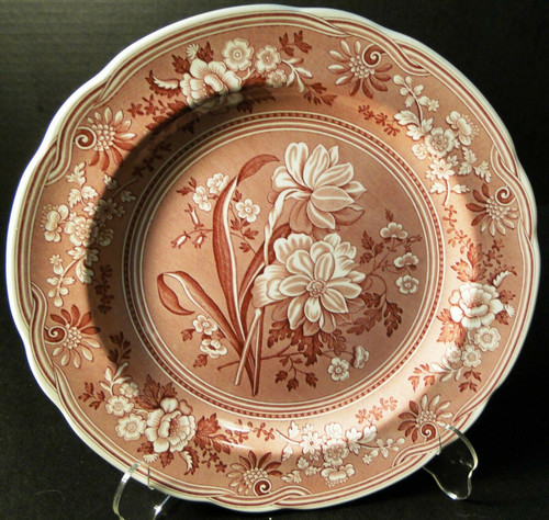 Spode Archive Collection Botanical Dinner Plate 10 3/8 Georgian Cranberry Exc
