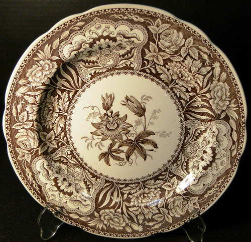 Spode Archive Collection Floral Dinner Plate 10 3/8 Georgian Brown Excellent