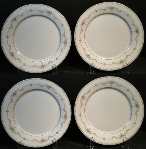 "Noritake Fairmont Dinner Plates 6102 10 1/2"" Set of 4 Excellent"