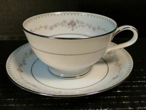 Noritake Fairmont Tea Cup Saucer Set 6102 Pink Roses   DR Vintage Dinnerware and Replacements