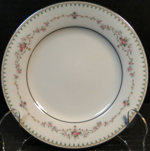 """Noritake Fairmont Bread Plate 6102 6 3/8"""" Pink Roses Excellent"""