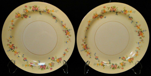 "Homer Laughlin Annette Bread Plates 6 1/4"" N1705 Eggshell Set of 2 