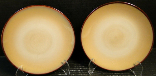 "Sango Nova Brown Salad Plates 7 7/8"" 4933 Set of 2 | DR Vintage Dinnerware and Replacements"