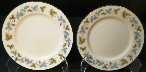 "Fine China of Japan Vintage Bread Plates 6 1/2"" 6701 Ivy Set of 2 
