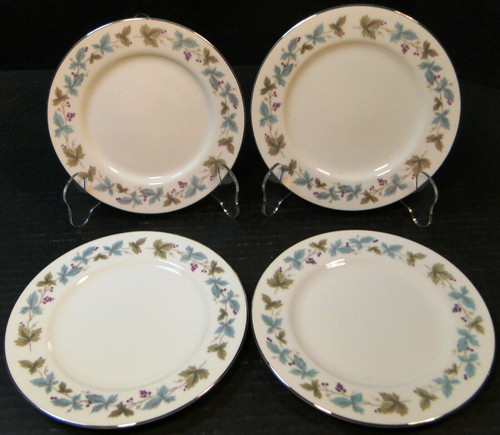 "Fine China of Japan Vintage Salad Plates 7 3/4"" 6701 Ivy Set of 4 