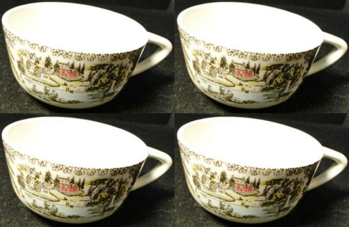 Royal China Fair Oaks Tea Cups Yellow Floral Set of 4 | DR Vintage Dinnerware and Replacements