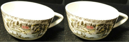 Royal China Fair Oaks Tea Cups Yellow Floral Set of 2 Excellent