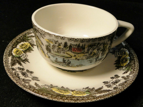 Royal China Fair Oaks Tea Cup Saucer Set Yellow Floral Excellent