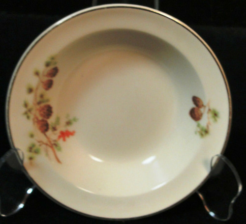 """Taylor Smith Taylor Pine Cone Berry Bowl 5 1/4"""" TST 1649   DR Vintage Dinnerware and Replacements"""