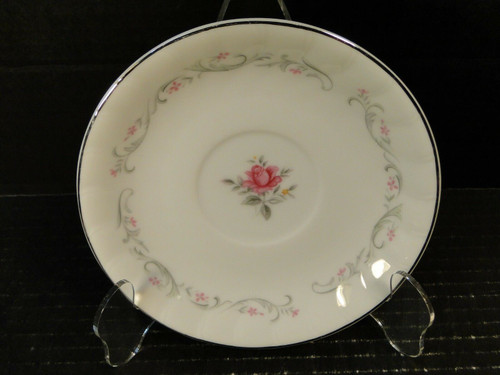 Fine China of Japan Royal Swirl Saucer Pink Rose | DR Vintage Dinnerware and Replacements