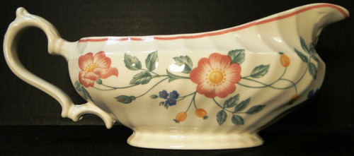 Churchill Briar Rose Gravy Boat Made in England | DR Vintage Dinnerware and Replacements