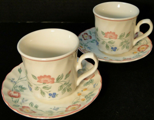 Churchill Briar Rose Cup Saucer Sets England 2 | DR Vintage Dinnerware and Replacements