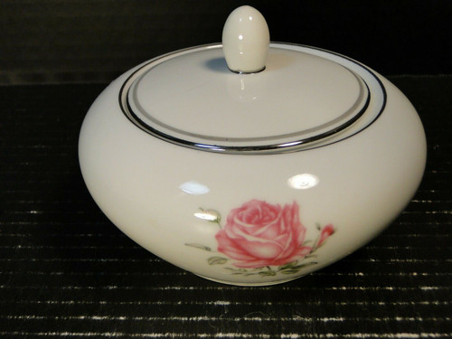 Fine China of Japan Imperial Rose Sugar Bowl with Lid 6702 | DR Vintage Dinnerware and Replacements