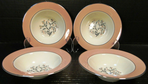 "Homer Laughlin Cavalier Springtime Berry Bowls 6"" CV32 Fruit Set 4 