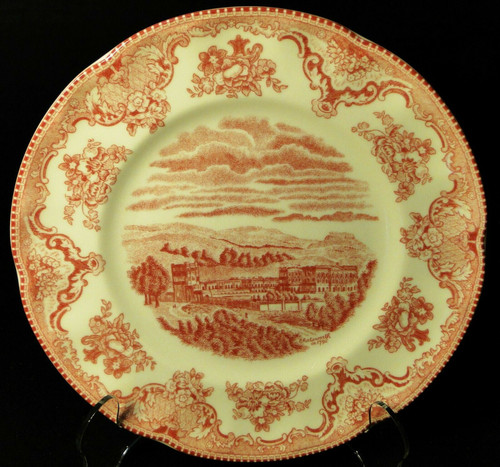 """Johnson Bros Britain Castles Chatsworth Salad Plate 8"""" Pink England   DR Vintage Dinnerware and Replacements"""
