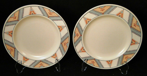 """Mikasa Santa FE Dinner Plates 11 1/8"""" CAC24 Intaglio Southwest Set 2 