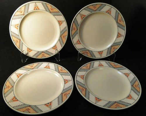 """Mikasa Santa FE Dinner Plates 11 1/8"""" CAC24 Intaglio Southwest Set 4 