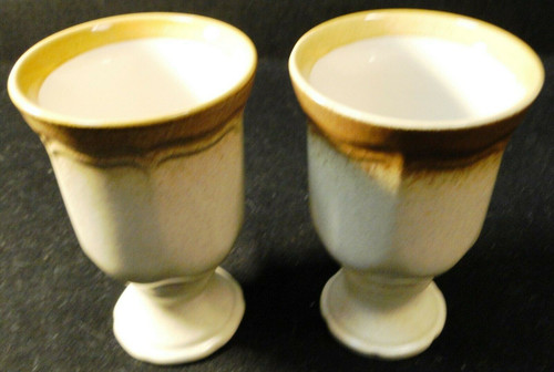 """Mikasa Whole Wheat Goblets 10 Oz 5 3/4"""" Tall Water Wine E8000 Set of 2 