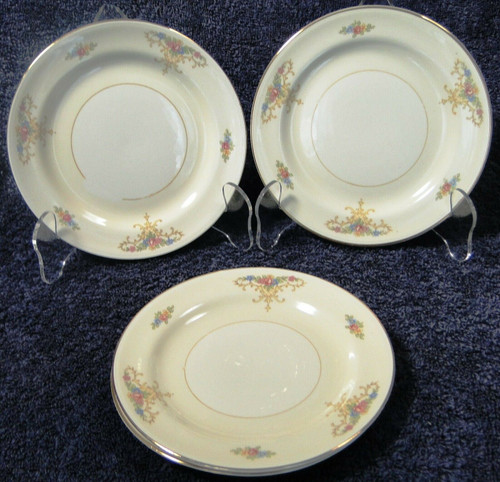 Homer Laughlin Eggshell Nautilus Rochelle Bread Plates Set of 4 | DR Vintage Dinnerware and Replacements