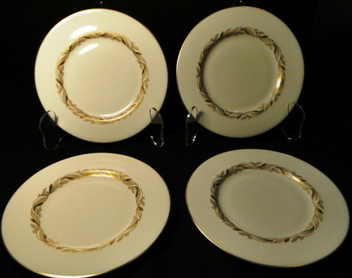 "Castleton China Carlton Bread Plates 6 1/4"" Inner Gold Band Set of 4 