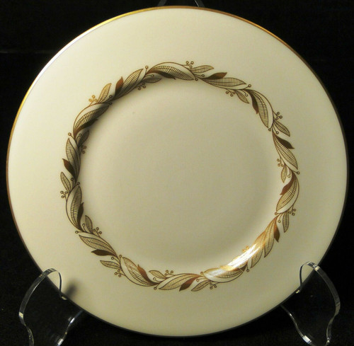 "Castleton China Carlton Bread Plate 6 1/4"" Inner Gold Band 
