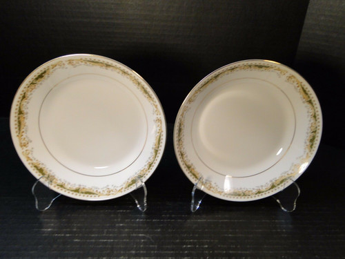 """Signature Collection Queen Anne Berry Fruit Bowls 5 1/2"""" Set of 2 NICE"""