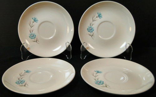 Taylor Smith Taylor Boutonniere Saucers Ever Yours Mid Century Set 4 Excellent