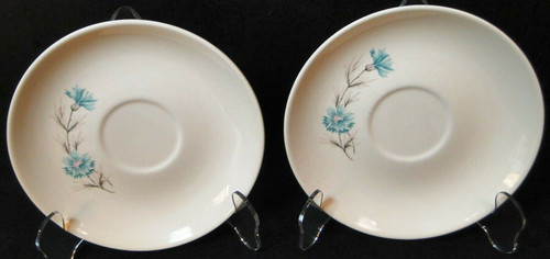 Taylor Smith Taylor Boutonniere Saucers Ever Yours Mid Century Set 2 Excellent