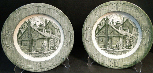 """Royal China The Old Curiosity Shop Dinner Plates 10"""" Set of 2 