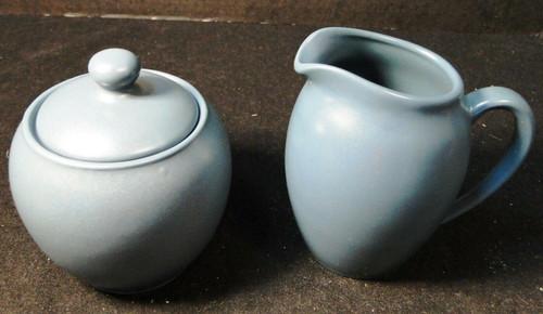 Noritake Colorwave Blue Creamer Sugar Bowl with lid 8484Y Stoneware Excellent