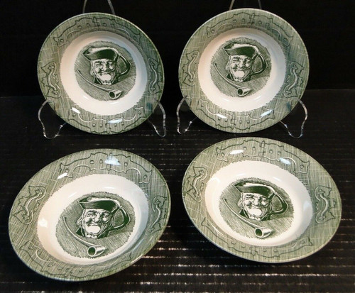"Royal China The Old Curiosity Shop Berry Bowls Fruit 5 1/2"" Set of 4 