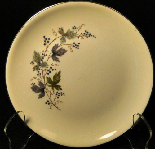 """Homer Laughlin Triumph Moselle Bread Plate 6"""" Green Blue Excellent"""